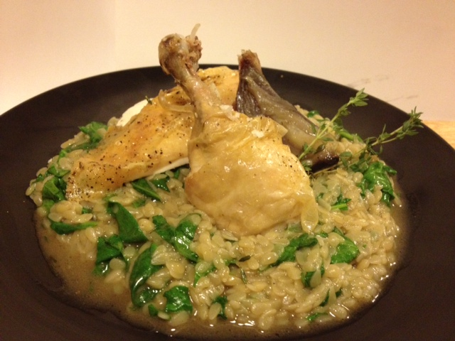 Chicken & Spinach Risotto of Pasta