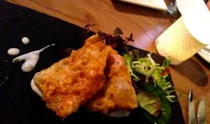 Fish Starter at Erics Restaurant Lindley