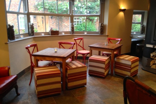 Seating area at The Blacksmiths Clayworth