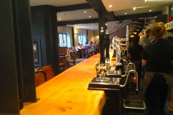 Bar area at The Blacksmiths Clayworth