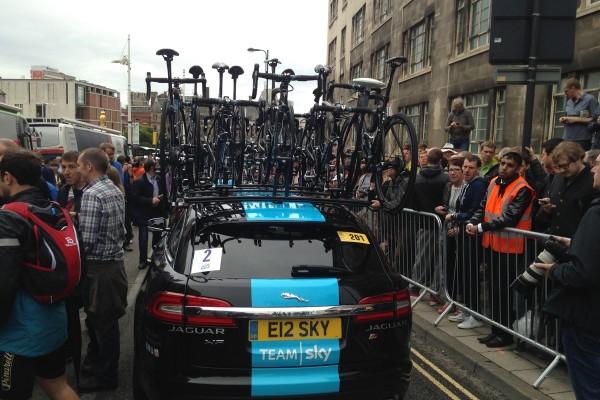 Team car of the Team Sky Tour de France team