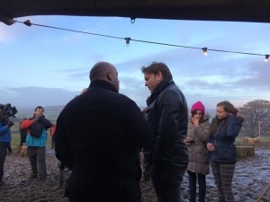 James Martin with Yorkshire Pudd's Chris Blackburn at the Great British Winter BBQ