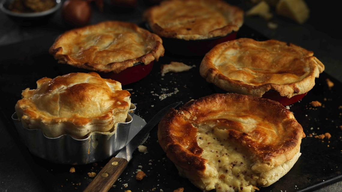 Pie Week INDIVIDUAL CHEESE AND ONION PIES