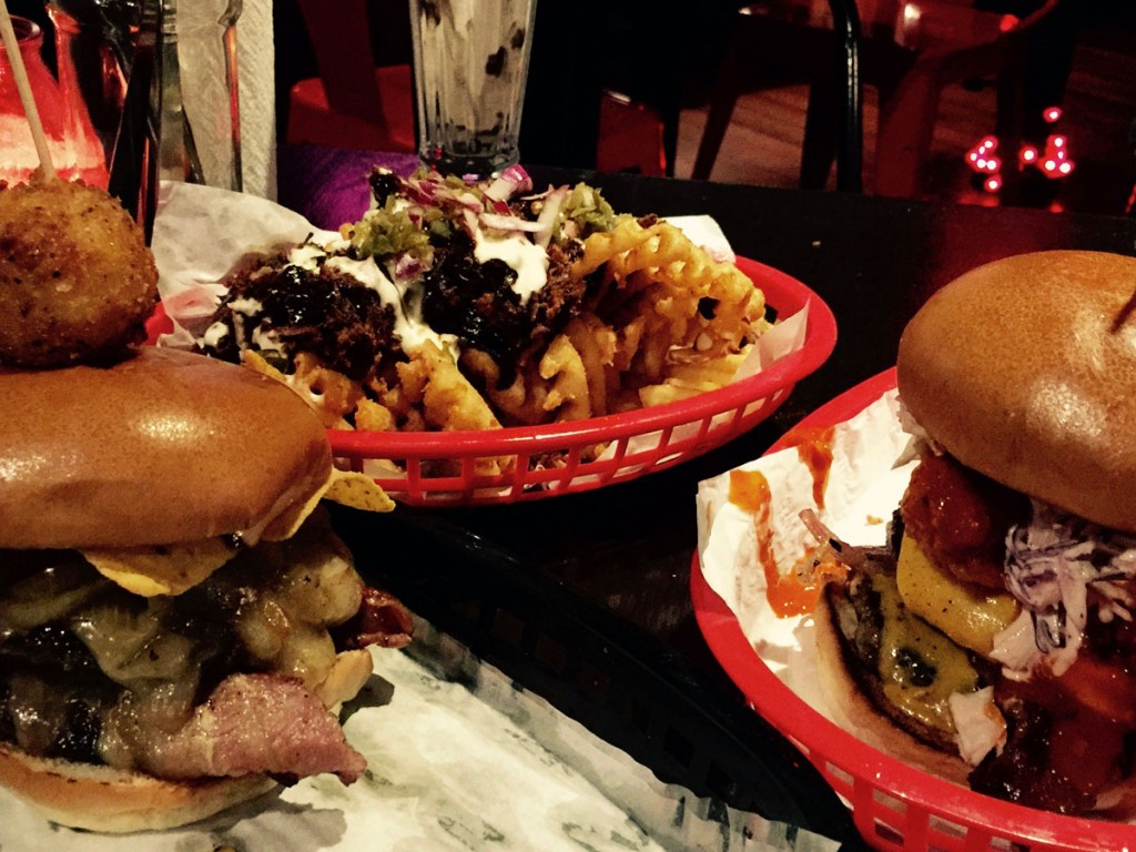 burgers and fries at Almost Famous
