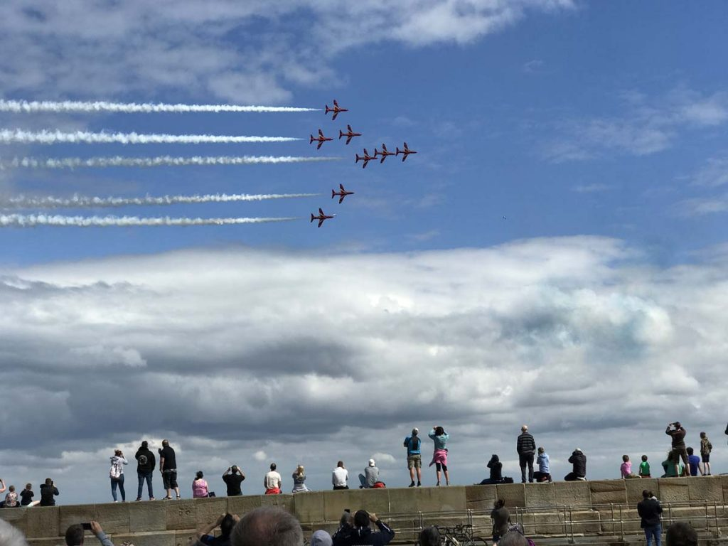 Red Arrows at Scarborough