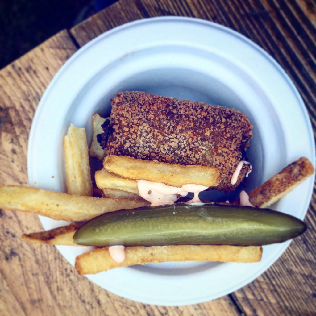 Salt Beef Croquette and Dirty Fries