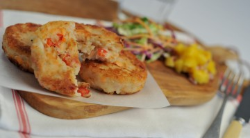 salmon and prawn fish cakes