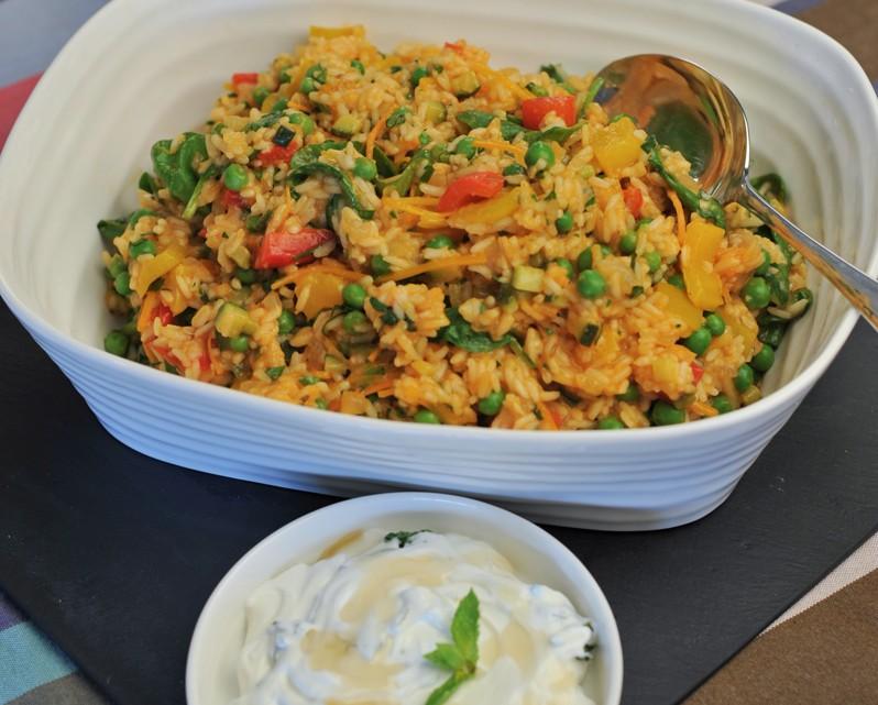 vegetable braised rice