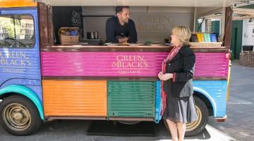 Green & Black's van