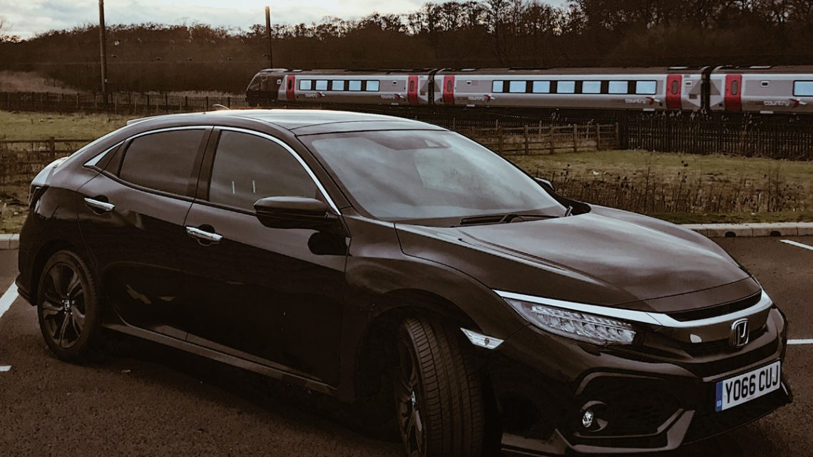 Honda Civic Train Passing