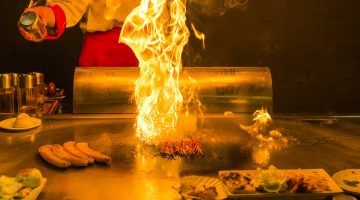 roasting teppanyaki at Cosmo