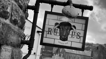 Rumpus Burger Sign Huddersfield