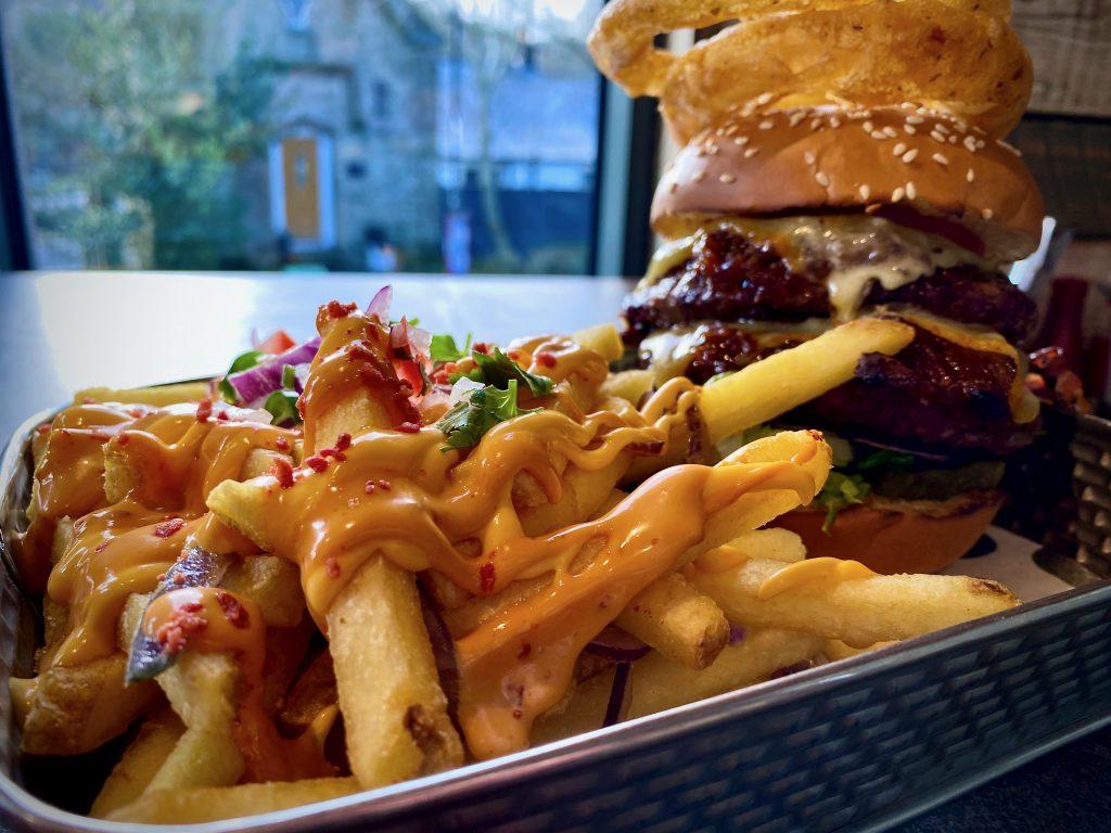 dirty fries at burger restaurant